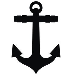 Anchor silhouette vector image vector image