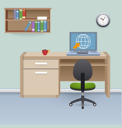 Cabinet Interior vector image vector image