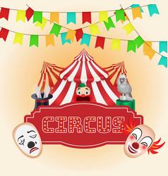 circus poster magic show vector image vector image