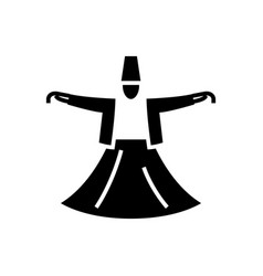 dervish dance - islam icon vector image