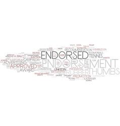 endorsement word cloud concept vector image