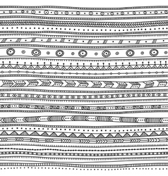 Ethnic ornate seamless pattern horizontal vector