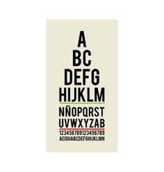 eye test optical paper vector image