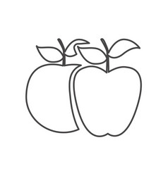 figure differents apples icon vector image vector image