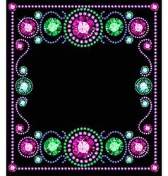 Gem Frame vector image vector image