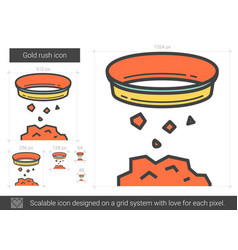 Gold rush line icon vector