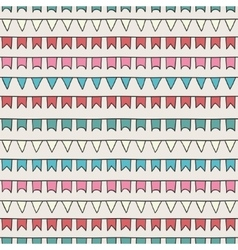 Hand drawn seamless pattern with bunting vector