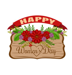 Happy womens day womens holiday card march 8 vector