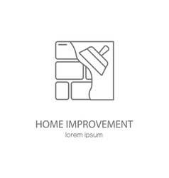 Home improvement logotype design templates vector image