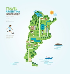 Infographic travel and landmark argentina map vector