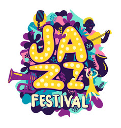 jazz festival composition vector image