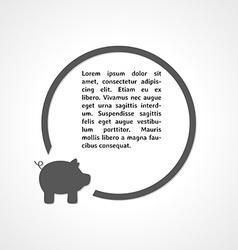pig symbol and circle vector image vector image