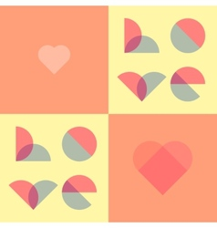 Romantic for valentines day wedding vector