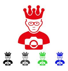 Sad thai king icon vector
