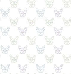 Seamless colorful pattern with frech bulldog vector