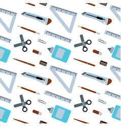 set of schools supplies from students backpack vector image vector image