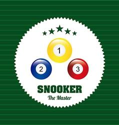 Snooker design vector