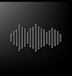 Sound waves icon gray 3d printed icon on vector