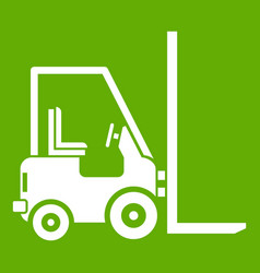 Stacker loader icon green vector