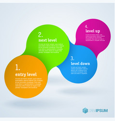 step by step infographic presentation template vector image vector image