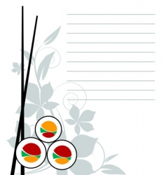 sushi template vector image