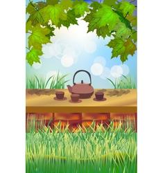 Tea ceremony Menu vector image