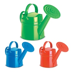 Watering cans set vector image