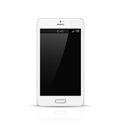 White mobile phone with black screen vector image vector image