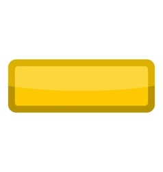 Yellow rectangle button icon cartoon style vector image