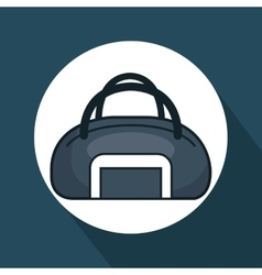 Gym bag isolated icon vector