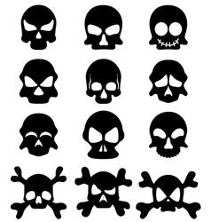 Skull symbol set vector