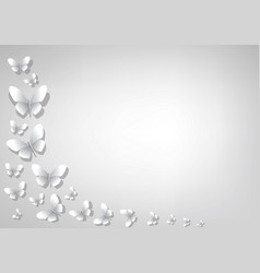 Abstract light gray background with white paper vector