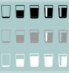 Glass cup riser or thimble icon glass cup vector