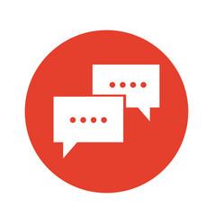 Communication bubble speech dialog message vector
