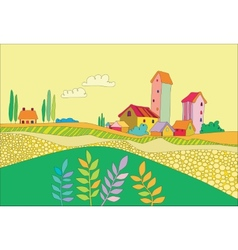 A small village vector