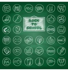 Doodle school buttons vector image