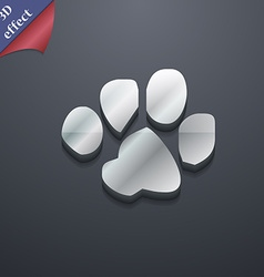 Trace dogs icon symbol 3d style trendy modern vector