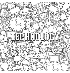 Technology background with media vector