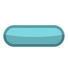 Blue rectangle button icon cartoon style vector