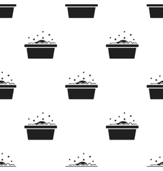 Bowl black icon for web and mobile vector image vector image