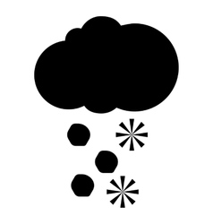 Cloud and snow icon simple style vector image