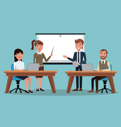Color background executive group of people in vector