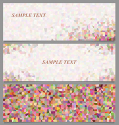 Colored abstract rectangle pattern banner set vector image vector image
