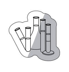 contour clinical laboratory icon vector image