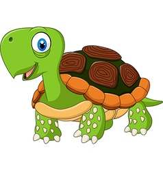 Cute baby turtle posing isolated vector image