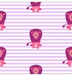 Cute lion seamless pattern vector