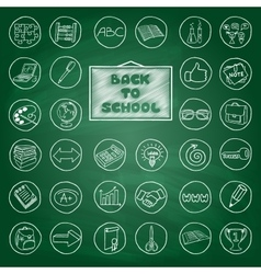 Doodle school buttons vector image
