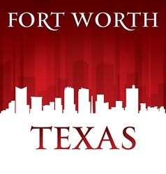 Fort Worth Texas city skyline silhouette vector image