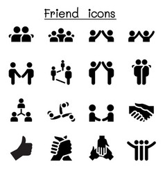 Friend relationship icons vector