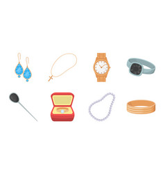 jewelry and accessories icons in set collection vector image vector image